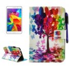 For Tab 4 7.0/T230 Tree Pattern Smart Cover Leather Case with Holder, Wallet & Card/Pen Slots