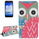 For Huawei Ascend G7 Owl Pattern Leather Case with Holder, Card Slots & Wallet