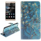 For Huawei P8 Lite Plum Pattern Flip Leather Case with Holder, Card Slots & Wallet