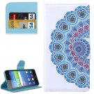 For Huawei Y6 Scale Flower Bud Pattern Flip Leather Case with Holder, Card Slots & Wallet