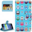 For Huawei Y6 Scale Cartoon Owls Pattern Flip Leather Case with Holder, Card Slots & Wallet
