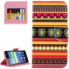 For Huawei Y6 Scale Stripes Pattern Flip Leather Case with Holder, Card Slots & Wallet