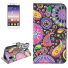 For Huawei Ascend Y625 Acaleph Pattern Flip Leather Case with Holder, Card Slots & Wallet