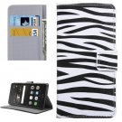 For Huawei P9 Lite Zebra Pattern Leather Case with Holder, Card Slots & Wallet