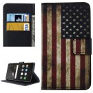 For Huawei P9 Lite US Flag Pattern Leather Case with Holder, Card Slots & Wallet