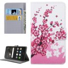 For Huawei P9 Lite Blossom Pattern Leather Case with Holder, Card Slots & Wallet