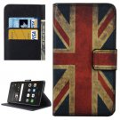 For Huawei P9 Lite UK Flag Pattern Leather Case with Holder, Card Slots & Wallet