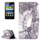 For Huawei Y3 II Tree of Life Pattern Leather Case with Holder, Card Slots & Wallet