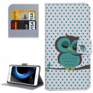For Huawei Honor V8 Dot and Owl Pattern Leather Case with Holder, Card Slots & Wallet