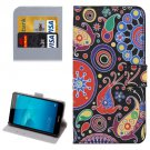 For Huawei Honor 5c Acaleph Pattern Leather Case with Holder, Card Slots & Wallet