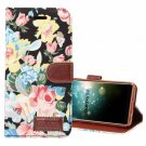 For Galaxy S9 Black Cloth Flower Flip Leather Case with Holder & Card Slots