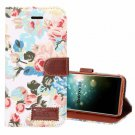 For Galaxy S9 White Cloth Flower Flip Leather Case with Holder & Card Slots