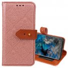 For Galaxy S9 Rose Gold European Embossed Leather Case with Holder, Card Slots & Wallet