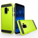 For Galaxy S9 Green Brushed Texture Drop proof Protective Back Cover Case