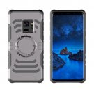 For Galaxy S9 Grey Detachable Drop proof Protective Back Cover Case with Sport Armband