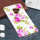 For Galaxy S9 Noctilucent Rose Flower Pattern TPU Soft Back Case Protective Cover