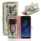 For Galaxy S 9 + Owl Pattern Flip Leather Case with Holder, Card Slots & Wallet