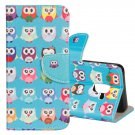 For Galaxy S 9 + Cartoon Owls Pattern Leather Case with Holder, Card Slots & Wallet