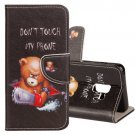 For Galaxy S 9 + Little Bear Pattern Leather Case with Holder, Card Slots & Wallet