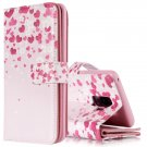For Galaxy S 9 + Love Flower Pattern Leather Case with Holder, Card Slots & Wallet