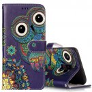For Galaxy S 9 + Ethnic Style Owl Pattern Leather Case with Holder, Card Slots & Wallet