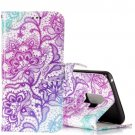 For Galaxy S 9 + Embossed Purple Lotus Pattern Leather Case with Holder, Card Slots & Wallet