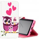For Galaxy S 9 + Owl Family Pattern Leather Case with Holder, Card Slots & Wallet