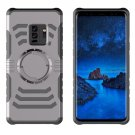 For Galaxy S 9 + Detachable Drop proof Grey Back Cover Case with Sport Armband