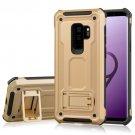 For Galaxy S 9 + Gold Ultra-thin Frosted Shockproof TPU + PC Back Case with Holder