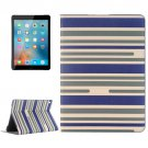For iPad Pro 9.7 Dark Blue Color Matching Leather Case with Holder, Card Slots & Wallet