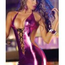 Women's Backless / Lace up Sexy Fuchsia Teddy Nightwear