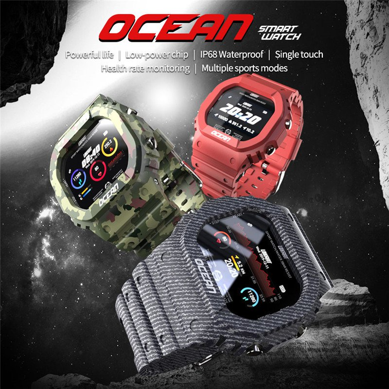 Smartwatch waterproof Bluetooth with medical monitoring - 3 colors