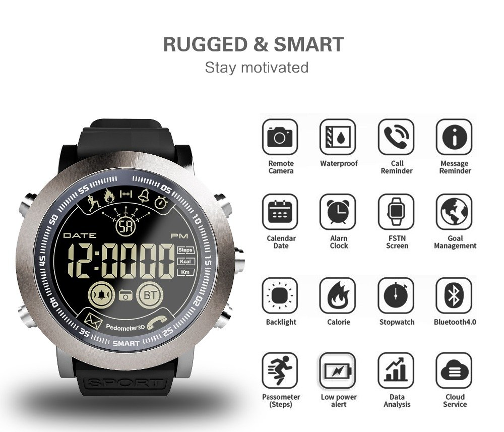Bluetooth Pedometer Smart Watch for IOS
