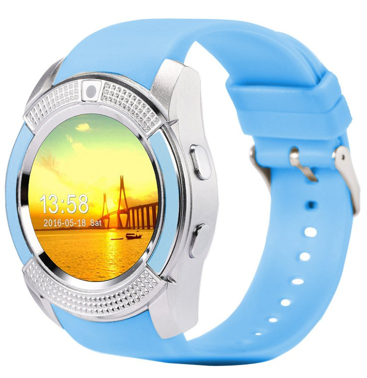 Round Screen Bluetooth Smart Watch, Touch Screen Pedometer - 6 Colors
