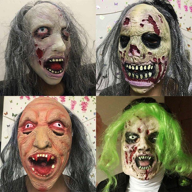 Halloween Scary Zombie Headwear Mask - 4 models