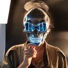 LED Halloween Face Mask Luminous Skull Cold Light