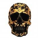 Mini Skeleton Head Resin Decoration Realistic Human Skeleton Model For Halloween