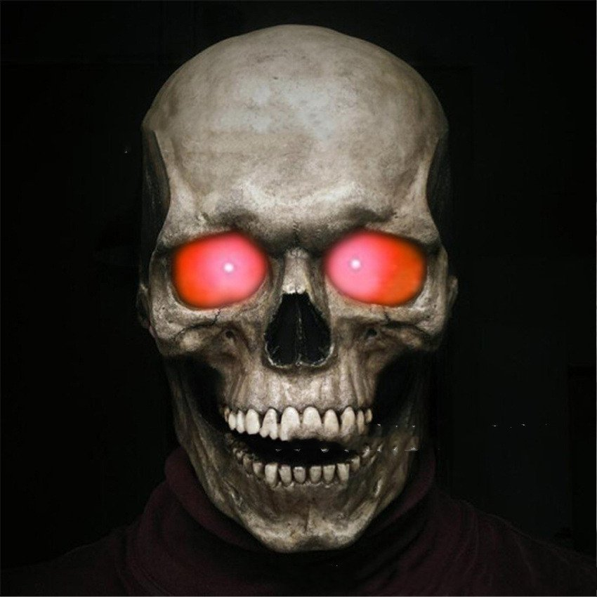 New Halloween Scary Skull With Movable Mouth And Glow - 4 models
