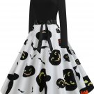 Halloween Hepburn Style Retro Print Big Skirt 1 - several sizes