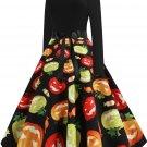 Halloween Hepburn Style Retro Print Big Skirt 3 - several sizes