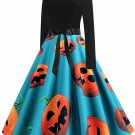 Halloween Hepburn Style Retro Print Big Skirt 6 - several sizes