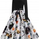 Halloween Hepburn Style Retro Print Big Skirt 8 - several sizes