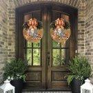 Halloween new door hanging tag wreath