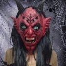 Halloween Scary Latex Devil Head Face Mask