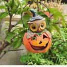 Resin Crafts Pumpkin Head Owl Ornaments