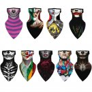 Halloween clown print triangle scarf - Models 1 to 9