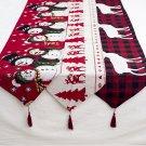 Christmas Elk Snowman Table Runner Merry Christmas Decorations - 3 Models