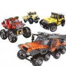 Jeep Bigfoot All Terrain Truck Small Particle Building Blocks Puzzle Toys