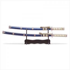 2PC SAMURAI SWORDS/SCABBARDS
