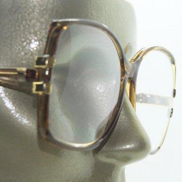 Big Glamour Statement Polished Caramel Frame Reading Glasses +1.75 Strength